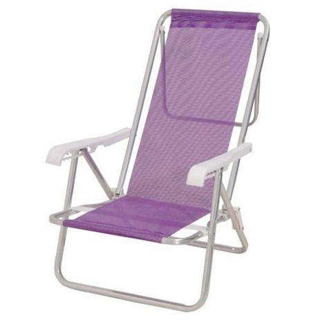 3 Cadeiras 8 Posições + 1 Mesinha para cadeira + 1 Guarda sol