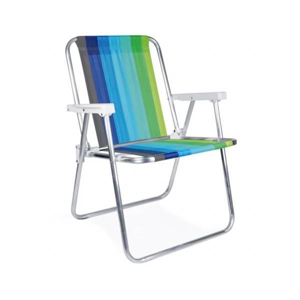 3 Cadeiras Alta em Alumínio  + 1 Mesinha - MOR
