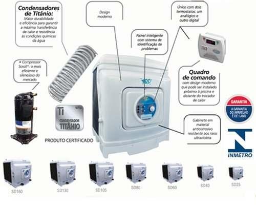 Aquecedor Trocador Calor De Piscina Sd40 (39 M³) Com Digital