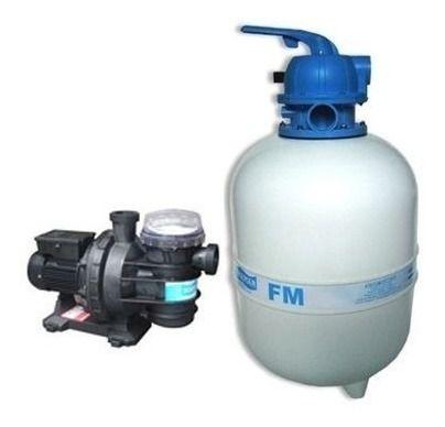 Conjunto Filtro Fm50 + M/bomba Bm-75 3/4cv S/areia Sodramar