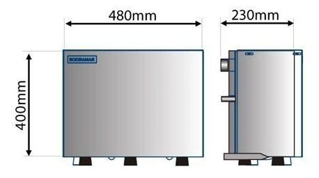 Gerador De Vapor Steam 9,0 Kw + Quadro De Comando Digital