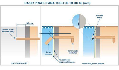 Dispositivo De Aspiração Abs Pratic 1 1/2 Tubo 0,50