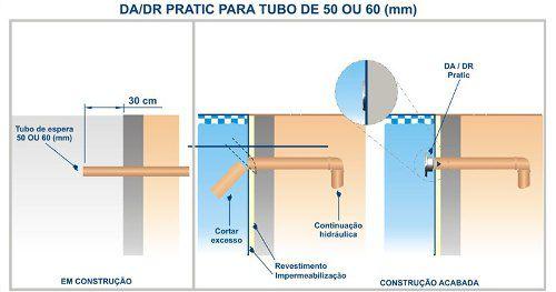 Disp De Aspiração Abs/inox Pratic 1 1/2 Tubo 0,60