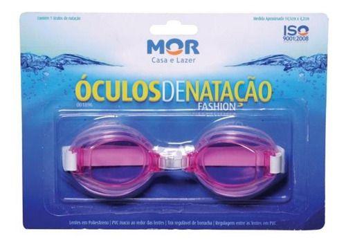 Óculos De Natação Fashion Rosa - Mor