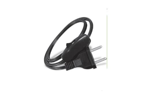 5 Rabichos Cordão conector injetado 180º c/ inter 1/2 fio de pressão Preto 3 peças