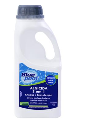 Algicida de choque e manutenção 3 em 1 - Blue Pool