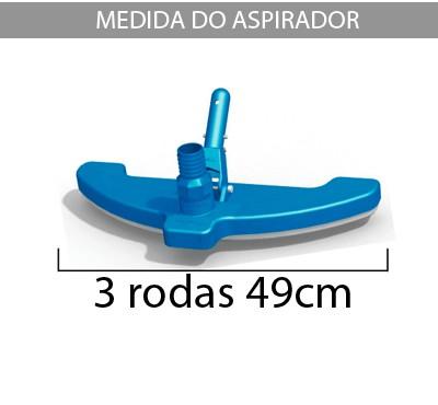 Aspirador 3 Rodas p/ piscinas de fibra e alvenaria - Sodramar
