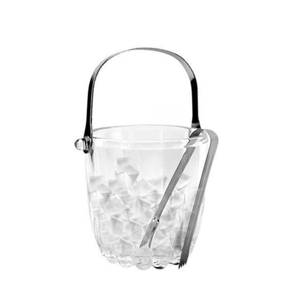 Balde de Gelo De Cristal Com Alça E Pegador 12X10