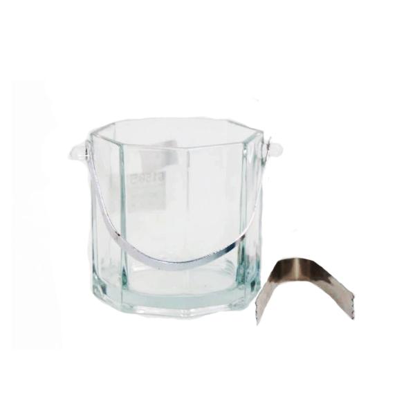 Balde de Gelo De Cristal Com Alça E Pegador 12X12