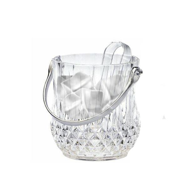 Balde de  Gelo De Cristal Com Alça E Pegador 13X10