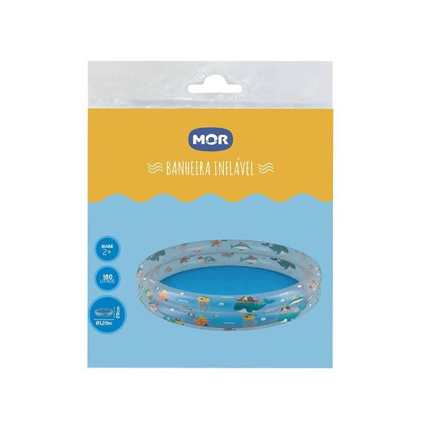 Banheira Piscina Inflável Infantil 180 Litros Azul - Mor