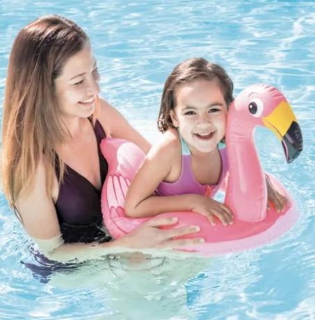 Boia inflável infantil flamingo Intex 76 x 55 cm