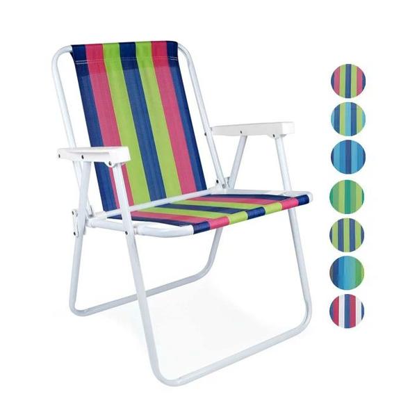 Cadeira Praia E Piscina Alta Sortidas em Aço Mor