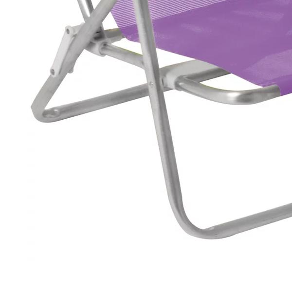 Cadeira Reclinável 8 Posições Alumínio  Lilás - MOR