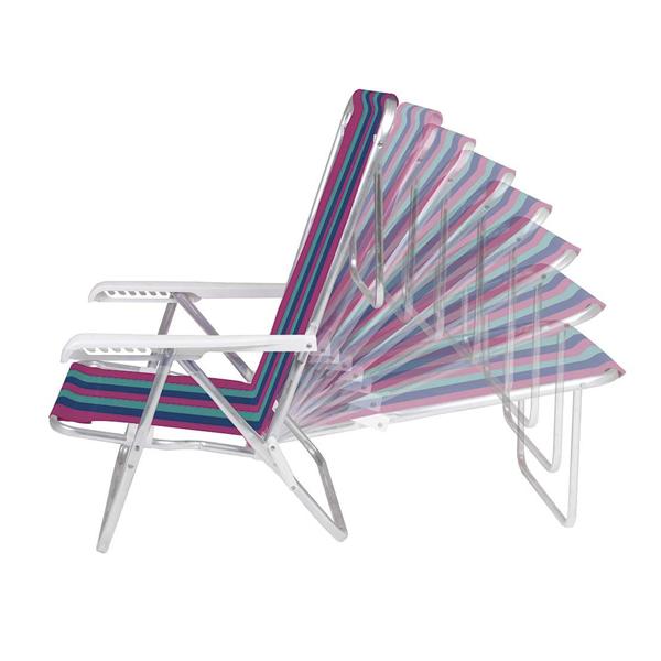 Cadeira reclinável 8 Posições Alumínio  - Sortida - Mor