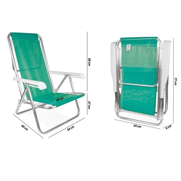 Cadeira Reclinável em Aço 8 Posições  Anis - Mor
