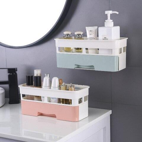 Caixa Organizadora de parede cosméticos e Maquiagem Suspensa Com Gaveta