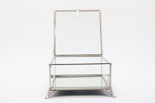 Caixa, Estojo,Porta Jóias e Bijuterias  em vidro Decorativo 10 x 16 x 16 - M1076