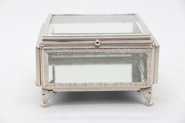 Caixa, Estojo,Porta Jóias e Bijuterias  em vidro Decorativo 12 x 22 x 17 - M1092