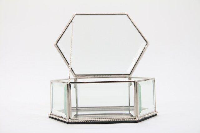 Caixa, Estojo,Porta Jóias e Bijuterias  em vidro Decorativo 8 x 20 x 15 - M1085