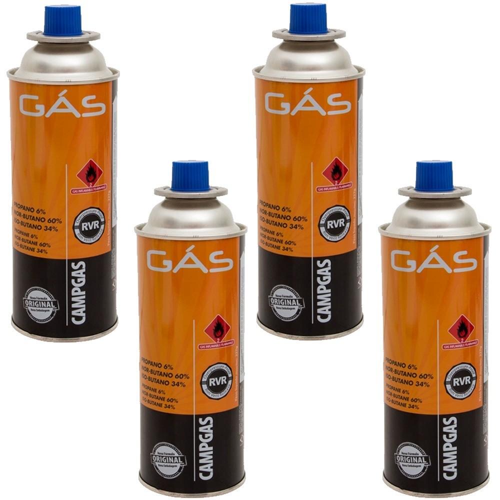 Campgás Cartucho de gás para fogareiros NTK caixa com 4 unidades