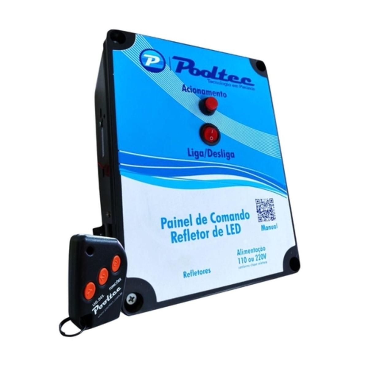 Comando para Leds Modelo A para Refletor de Piscina  Tensão 110 / 220 v automático pooltec