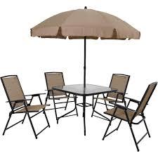 Conjunto Acapulco 4 Cadeira 1 Mesa e 1 Guarda Sol  - Mor