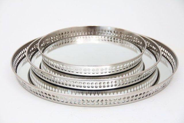 Conjunto de Bandeja em Metal 3 Peças - Q1686