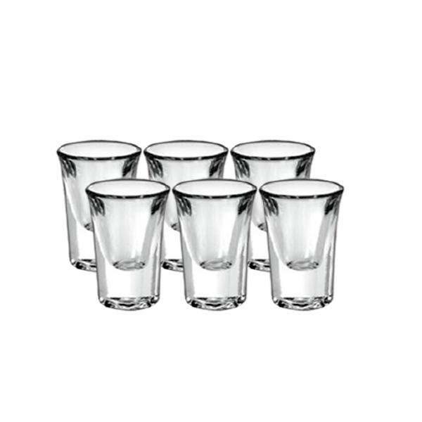 Conjunto 6 mini copos Tequila Vodka conhaque Cachaça mais  Jarra 150ml