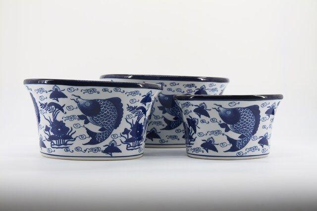 Conjunto de Vaso Decorativo em Cerâmica 3 peças  - P7328