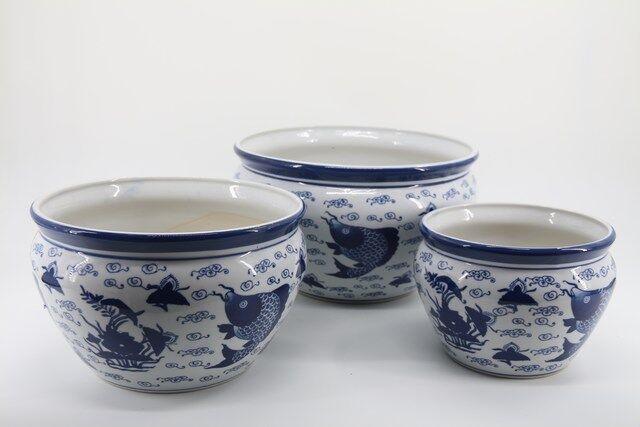 Conjunto de Vaso Decorativo em Cerâmica 3 peças  - P7329