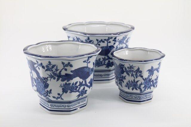 Conjunto de Vaso Decorativo em Cerâmica 3 peças  - P7333
