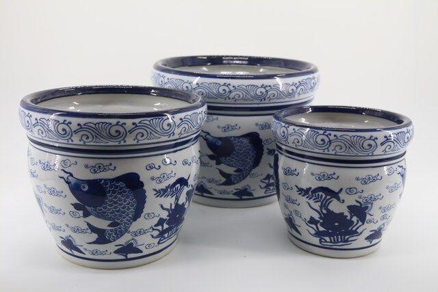 Conjunto de Vaso em Cerâmica 3 peças - P7326