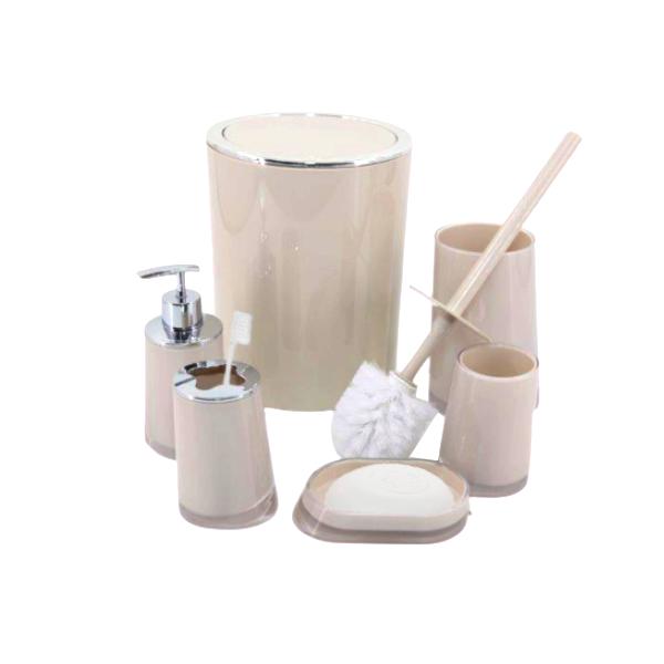 Conjunto Para Banheiro Higiene Completo com 6 Peças
