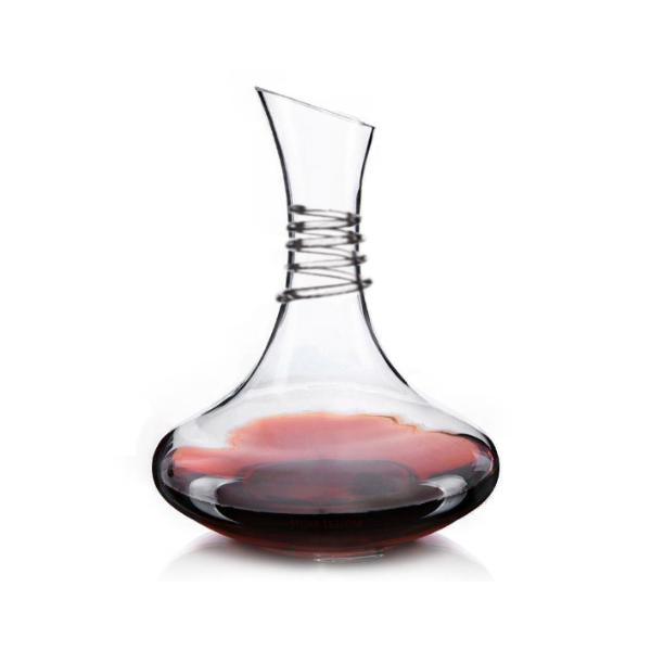 Decanter Aerador de Vinho em Vidro  1,5L Design em Espiral