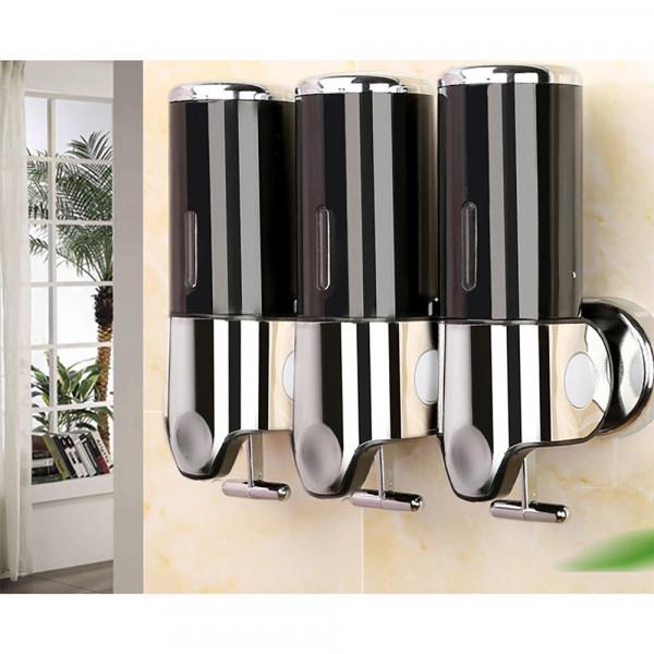 Dispenser de parede Para Sabão Álcool em Gel Triplo Luxo