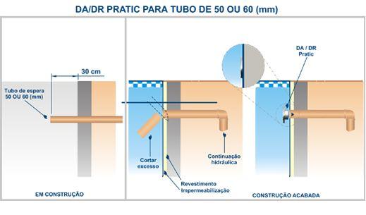 """Dispositivo de retorno em ABS Pratic 1 1/2""""  - Sodramar"""