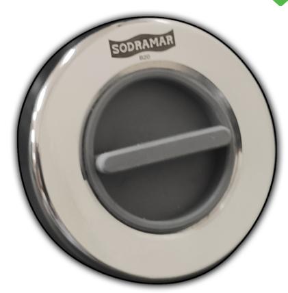 Dispostivo de Aspiração Premium flat aço inox 316