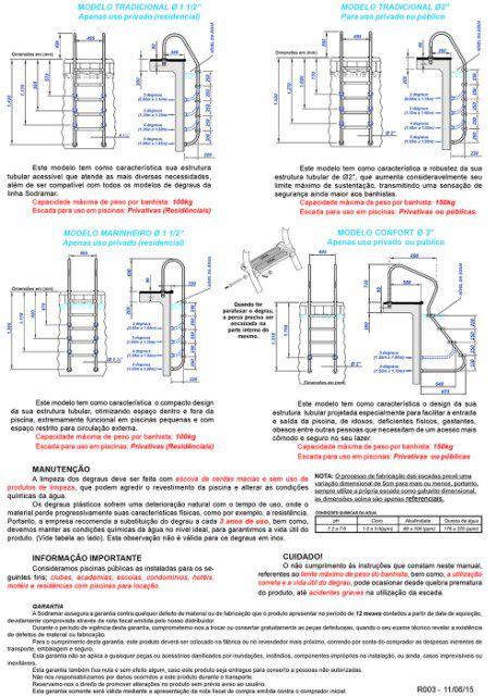 Escada Marinheiro 1½ Com 5 Degraus Em Abs - Sodramar