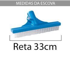 Escova Reta Nylon 33 Cm Para Piscina - Sodramar