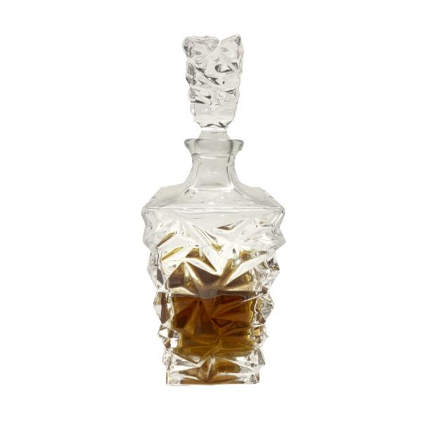 Garrafa para Whisky ou licor em  Vidro Com Tampa