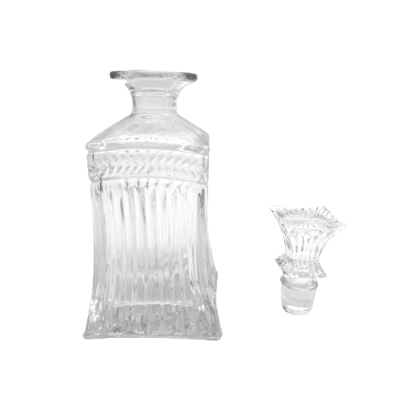 Garrafa Whisky 700ml + 6 Copos de vidro com 370 ml