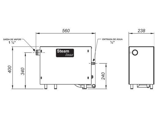 Gerador de Vapor Steam Inox 12kw Universal- Sodramar