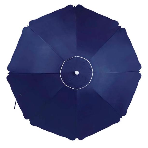 Guarda sol  Alumínio Articulado grande 2,60M Azul - Mor