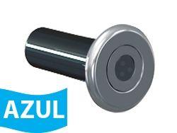 Hiper Led 9 W Tubo de 50 mm Frontal Inox corpo ABS - Monocromático Azul*