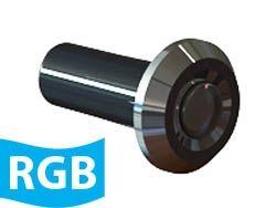 Hiper Led  RGB 9 W Tubo 50 mm corpo ABS frontal Inox - Sodramar