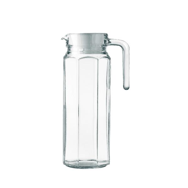Jarra Água Sucos Refrescos Refrigerantes em Vidro Com Tampa 1700ML