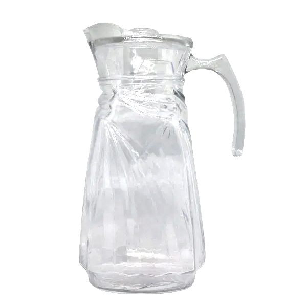Jarra Água Sucos Refrescos Refrigerantes em Vidro Com Tampa 1800ML