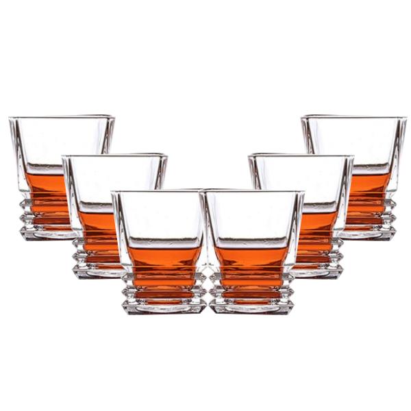 Jogo de Copo 6 Unidades em vidro para whisky Licor ou Drinks