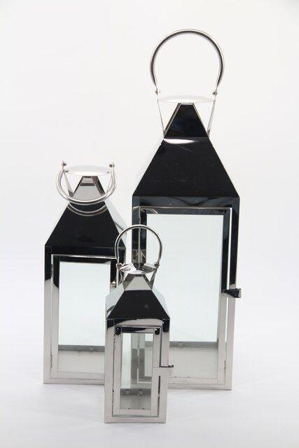 Jogo de Lanterna em Metal Com 3 Peças  52X20 - 40X15 - 20X10- Q1675